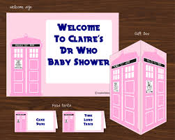 printable dr who baby show collection pink creative little parties
