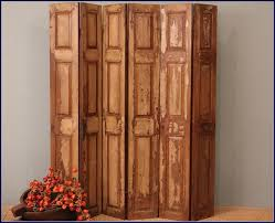 Folding Room Divider Accessories Furniture Interior Fancy Old Wood Rustic Folding
