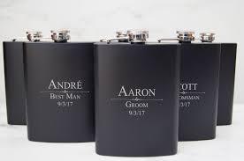 Customized Wedding Gift Personalized Set Of 6 Flasks Groomsmen Wedding Gift Best Man