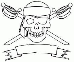 coloriage drapeau pirate anniversaire pirate pinterest