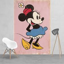 medium murals 158cm x 232cm disney minnie mouse classic vinatge style feature wall wallpaper mural 158cm x 232cm