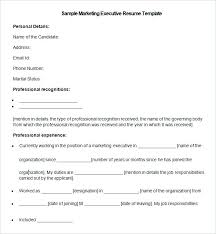 Resume Sample For Marketing Executive Sample Marketing Executive Resume Sample Marketing Executive