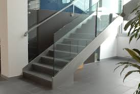 Glass Banister Staircase Fyn Stainless Steel Bespoke Staircase With Glass Balustrade From