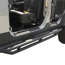 lowered 4 door jeep wrangler 16 jeep wrangler jk 4 door pair of rock crawler side step armor