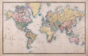 1860 vintage world map wallpaper wall mural by loveabode com 1860 vintage world map