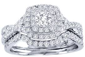 wedding ring sets cheap 2 carat cut certified diamond luxurious halo cheap