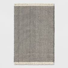 Black Chevron Area Rug 62 Black White Chevron Fringed Area Rug