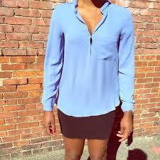 periwinkle blouse zara sale zara periwinkle blue blouse from erica s closet
