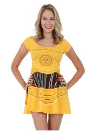 star wars c3po skater dress jpg 1750 2500 costumes pinterest