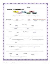 adding to sentences sentence worksheets for 1st through 3rd grade