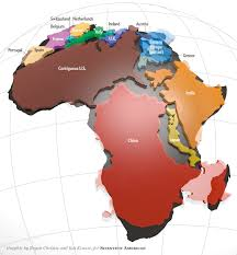 Map Of Russia And China by Africa Is Way Bigger Than You Think Scientific American Blog Network