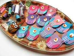 bugs and fishes by lupin lots of felt owls