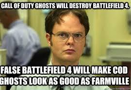 Cod Ghosts Meme - call of duty ghosts will destroy battlefield 4 false battlefield