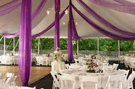 purple wedding decorations selecting the correct color for tablecloth and table runner for