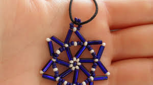 make pretty beaded star christmas decorations home