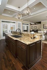 kitchen room 2017 brown wooden kitchen island with white counter
