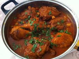 Chtitha djedj poulet sauce rouge Cuisine Noor