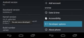 developer mode android developer options in android 4 2 jelly bean