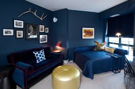 dark blue bedroom walls design decoration blue wall paint 118