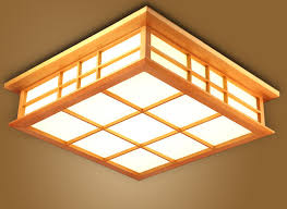 Japanese Ceiling Light Japanese Ceiling Light L Led Square 45 65cm Flush Mount