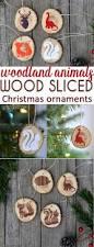 diy woodland animals wood slice christmas ornaments woodland
