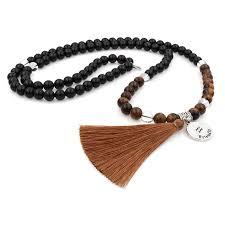 black agate necklace images Zodiac tiger agate mala necklace zodiac xpress jpg