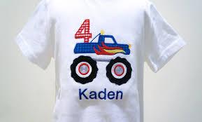 grave digger monster truck bedding monster truck boys birthday applique shirt customizable