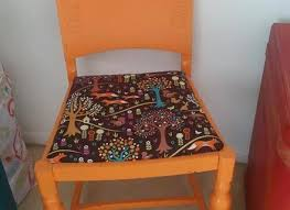 stained old chair pad bought 1 yard of fabric at walmart to