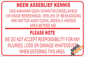 disclaimer nr2 neem asseblief kennis please note disclaimer sign