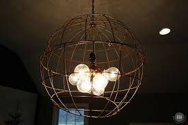 Diy L Shade Decorations Diy Lighting Fixtures Globe Brushed Copper Wire