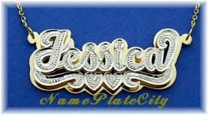 gold name plates nameplatecity name necklace personalized jewelry name plate