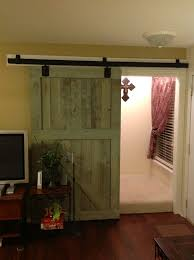 Sliding Barn Door For Home by Rustic Interior Sliding Barn Door For Home In Green Decofurnish