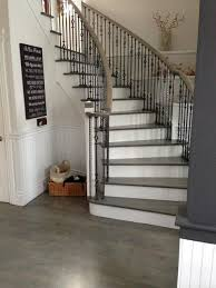 wood floor u0026 stair refinishing grey stained coloured modern