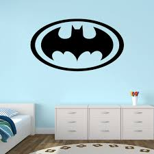 Removable Nursery Wall Decals New Design Batman Logo Wall Stickers For Bedroom Vinyl Baby Boy