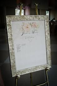 wedding autograph frame brides who used a picture frame signatures on the mat as a guest
