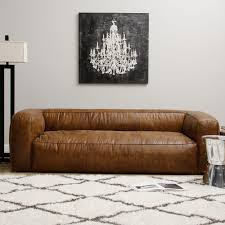 Modern Sofa Leather by This Puffy Contemporary Sofa Is Composed Of Full Italian Leather
