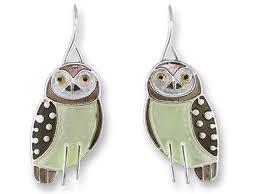 owl earrings zarlite owl earrings