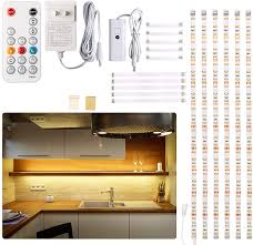 battery operated led lights for kitchen cabinets cabinet led lighting kit 6 pcs led lights with remote dimmer and adapter dimmable for kitchen cabinet counter shelf tv