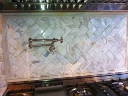 Brushed Nickel Backsplash by Kitchen Design 20 Ideas Beveled Subway Tile Kitchen Backsplash