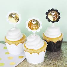 cupcake toppers personalized metallic foil cupcake wrappers cupcake toppers set