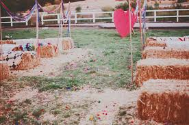 carnival weddings whimsical carnival wedding carnival wedding hay bales and wedding
