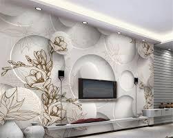 dessin de chambre en 3d beibehang 3d papier peint moderne ligne dessin magnolia feuille d