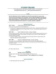 resume exles for college students cv exles student college resume exle student college template
