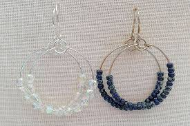 easy earrings make wire and bead hoops for every mood and