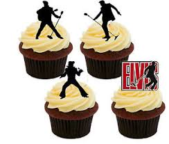 elvis cake topper elvis silhouettes edible cupcake toppers stand up fairy cake