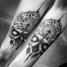 matching skull tattoos on arms best ideas gallery
