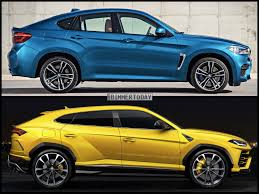 slammed lamborghini photo comparison lamborghini urus vs bmw x6 m