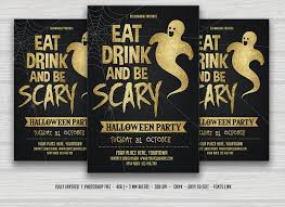 eat drink be scary halloween flyer flyer templates creative market
