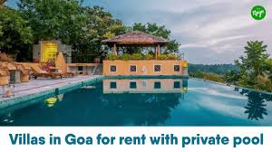 villas in goa for rent with private pool youtube
