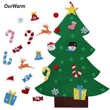 new year gifts kids diy felt christmas tree decorations christmas